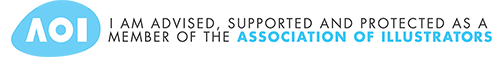 I am advised, supported and protected as a member of the Association of Illustrators.
